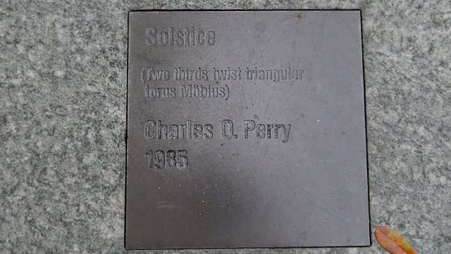 AUG 9, 2015 - Outside artwork by Charles O Perry 1985 at Bank of America Plaza on Kennedy Blvd, Tampa, FL/photonews247.com