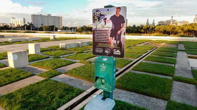 JULY 26, 2015 - Doggy waste containers in Nations Bank Park (Kiley Park) in Tampa, FL/photonews247.com