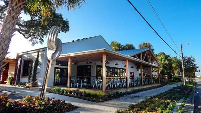 July 19, 2015 - Giant fork in front of Cask Social Restaurant on South Howard SoHo in Tampa, FL 2