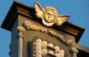 NOV 8, 2015 - Gold angel on top of Bernini Restaurant sign on 7th Ave in Ybor City Tampa/photonews247.com