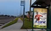 Hart Bus Stop 53 LX in Riverview FL with ad - SOUTH SHORE Flag Football and Soccer by N Zone 813 677-6826 2
