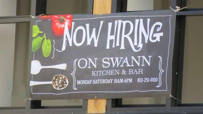 April 10, 2016 - Hiring at On Swan Kitchen and Bar, Hyde Park Village, Tampa/photonews247.com