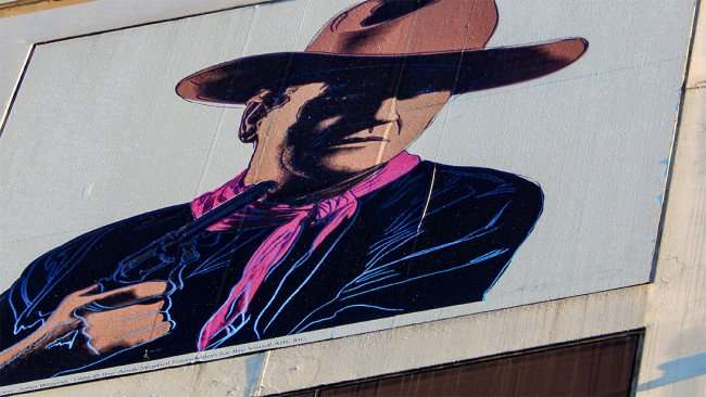 JULY 26, 2015 - John Wayne on Photographics Arts Museum building in Downtown Tampa, FL/photonews247.com