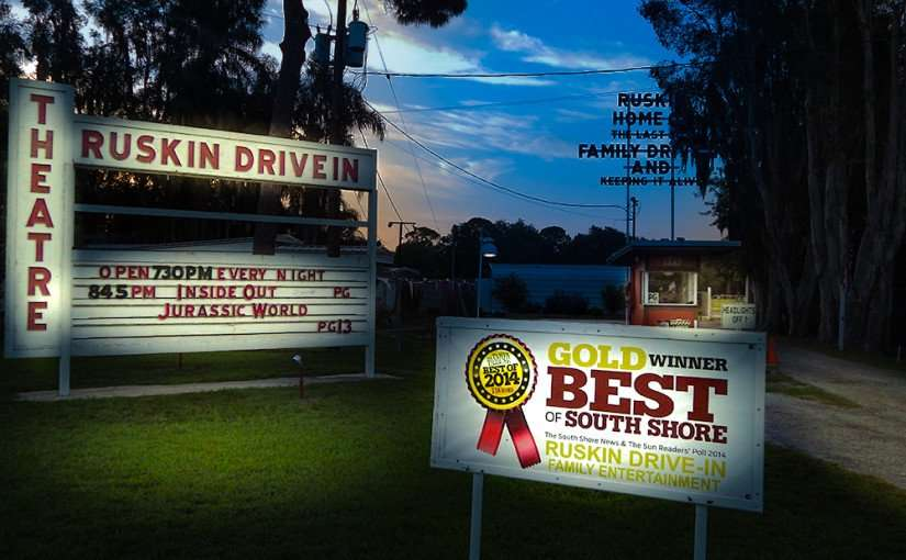 July 1, 2015 - Ruskin Drive-In awarded Gold Winner 2014 for Best of South Shore Ruskin Drive-In Family Entertainment by Tampa Tribune/photonews247.com