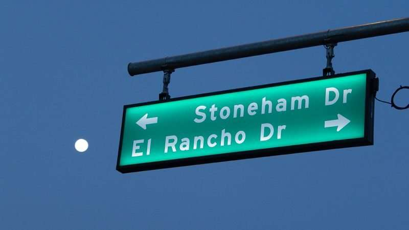 July 3, 2015 - Moon at intersection of Sun City Center Blvd, Stoneham Dr and El Rancho Dr