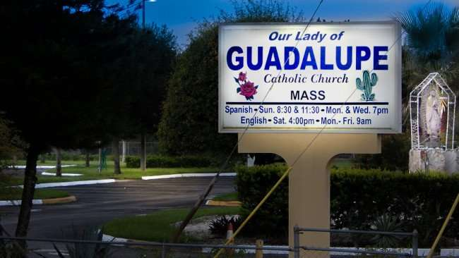 July 3, 2015 - Our Lady of Guadalupe Catholic Church on 301, Wimauma SouthShore, FL