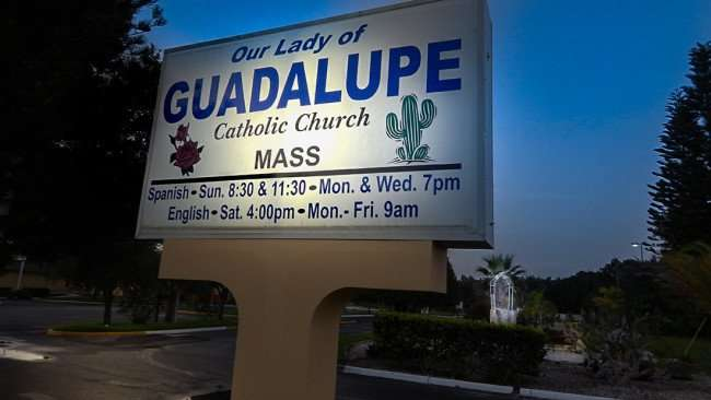 July 3, 2015 - Our Lady of Guadalupe Catholic Church provides food pantry for Wimauma SouthShore, FL