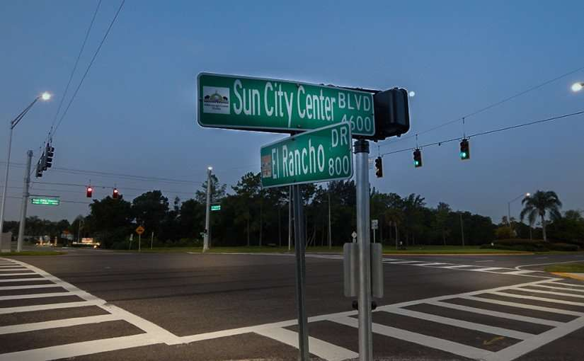 July 3, 2015 - Traffic signal turned on at Sun City Center Blvd, Stoneham Dr and El Rancho Dr, SouthShore, FL