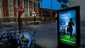 July 5, 2015 - Bikes locked on bike rack by Coast Ride Share on 7th Ave in Ybor City Historic Distric of Tampa FL coast socialbicycles