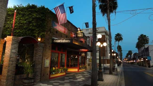 July 5, 2015 - Gaspars Grotto Restaurant on 7th Ave, Ybor City Tampa, FL