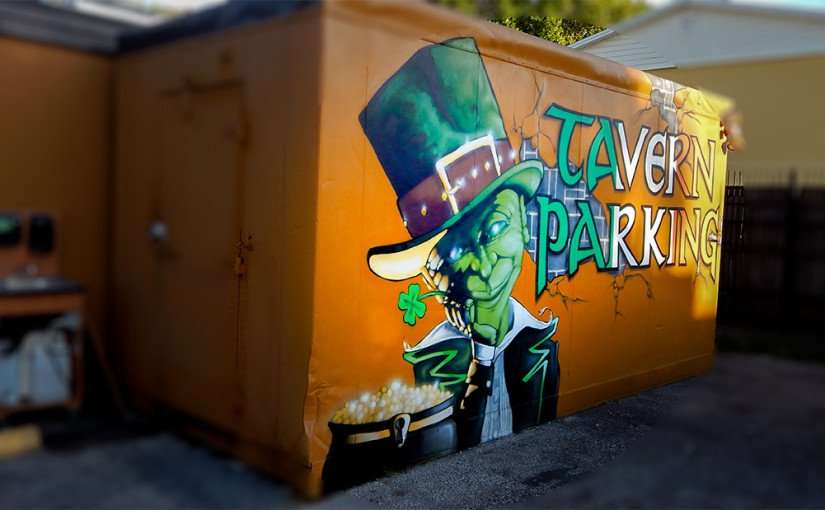 JULY 19, 2015 - Leprechaun mural painted on SOHO Tavern, Tampa, FL/2015 photonews247.com