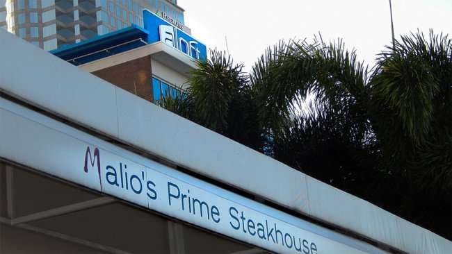 JULY 26, 2015 - Malio's Prime Steakhouse with Aloft and Regions building in background in Tampa, FL/photonews247.com