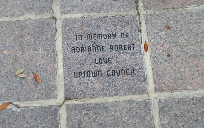 Aug 23, 2015 - Memorial brick onTampa Riverwalk - In Memory Of Adrianne Robert Love, Uptown Council/photonews247.com