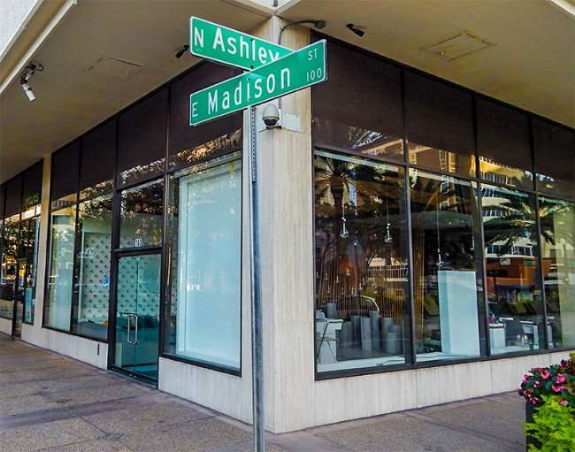 NOV 8, 2015 - Pearl Salon at the corner of Madison Street and North Ashley Street, Tampa, FL/photonews247.com
