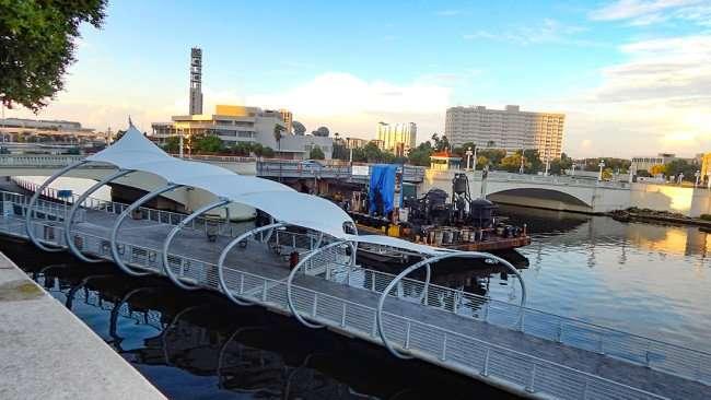JULY 26, 2015 - Riverwalk going under Kennedy Bridge in Tampa, FL/photonews247.com