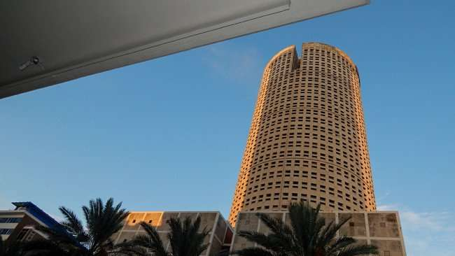 JULY 26, 2015 - View of Rivergate Tower from Pearl Salon Tampa on Ashley and Madison St, downtown Tampa, FL/photonews247.com