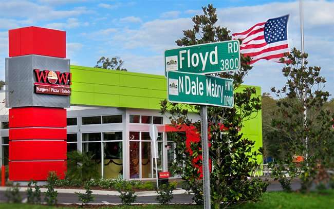DEC 6, 2015 - WOW Restaurant bugers, pizza, salads opened on Floyd Rd and N Dale Mabry, Tampa, FL/photonews247.com