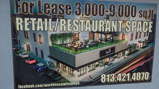 Warehouse Lofts Tampa with retail restaurant space on N Florida in Seminole Heights, Tampa, FL