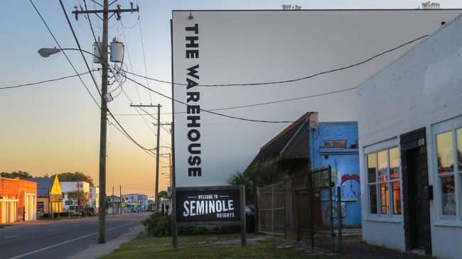May 8, 2016 - Welcome to Seminole Heights sign on N Florida Ave by The Warehouse apartments/photonews247.com