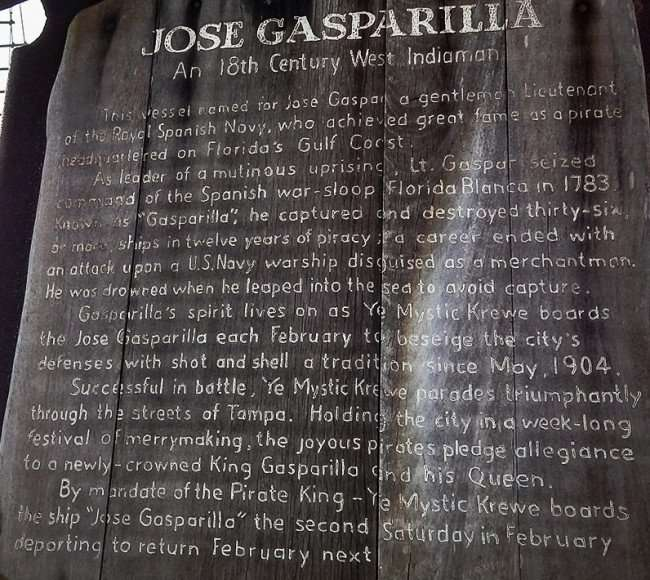 AUG 9, 2015 - About Jose Gasparilla, the pirate that once sailed in Florida's Golf Coast/photonews247.com