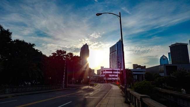 AUG 23, 2015 - City of Tampa from Cass Street Bridge downtown/photonews247.com