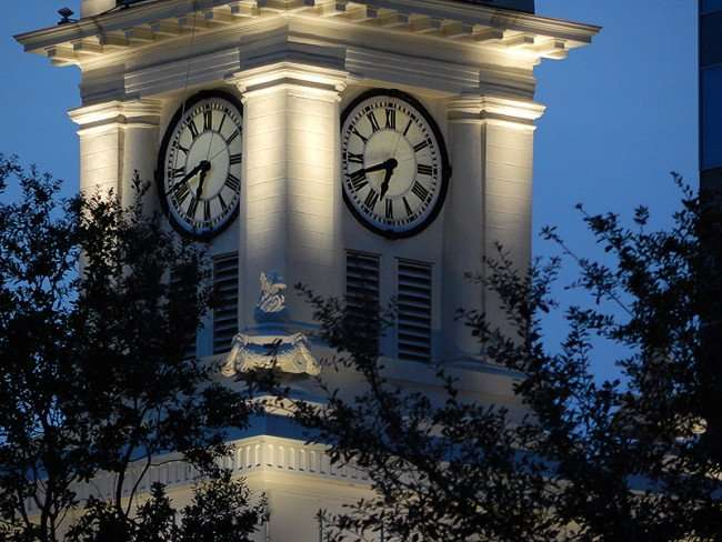 NOV 15, 2015 - Clock Tower keeps accurate time on Old Tampa City Hall/photonews247.com