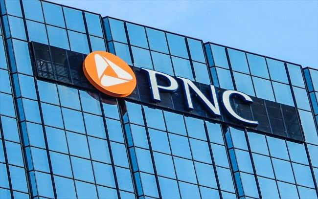 AUG 23, 2015 - Closeup of PNC logo on top of One Tampa Center Plaza (PNC) building, Downtown Tampa, FL/photonews247.com