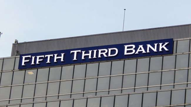 AUG 23, 2015 - Fifth Third Bank name and logo on top of building, Downtown Tampa, FL/photonews247.com