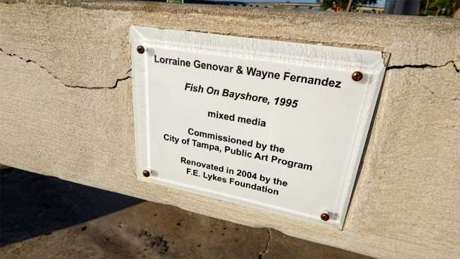 "AUG 9, 2015 - ""Fish on Bayshore"" street art by Lorraine Genovar and Wayne Fernandez, Downtown Tampa, FL/photonews247.com"
