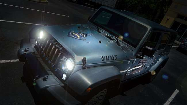 AUGUST 4, 2015 - Four Stacks Brewery jeep with lights photoshopped in on/photonews247.com