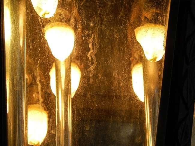 NOV 15, 2015 - Gas Lamp mantles filaments used in Lykes Gaslight Square Park, Tampa, FL/photonews247.com