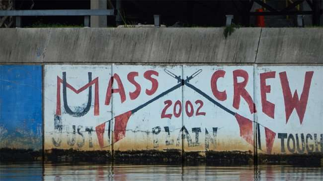 AUG 23, 2015 - Graffiti Mass Crew 2002 Just Plain Tough painted along Hillsborough River, Tampa, FL/photonews247.com