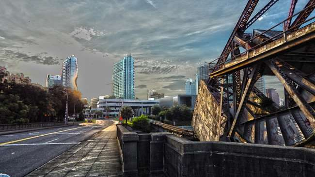 AUG 23, 2015 - HDR filter in Photoshop added to photo of Cass Street Bridge, Tampa, FL/photonews247.com