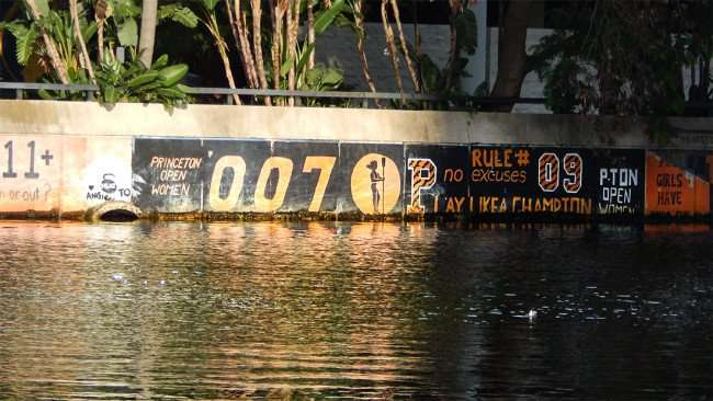 AUG 23, 2015 - Hillsborough River graffiti - PRINCETON OPEN WOMEN 007 No Excuses, Tampa, FL/photonews247.com