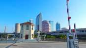AUG 9, 2015 - Platt St Bridge where it separates in Downtown Tampa, FL/photonews247.com
