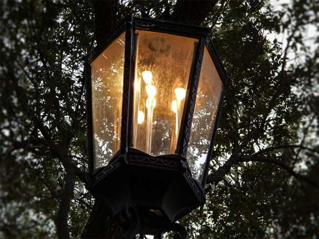 NOV 15, 2015 - Real Gaslights are used in Lykes Gaslight Square Park in Tampa, FL/photonews247.com