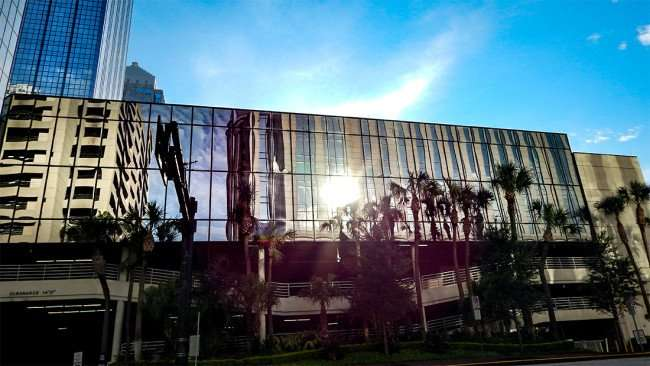 AUG 23, 2015 - Reflections of 100 North Tampa Regions building in Downtown Tampa, FL/photonews247.com