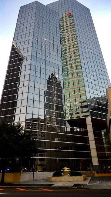 AUG 9, 2015 - Reflections off Fifth Third Building - BBT Park Tower, Regions 100 North, Bank of America Plaza, Downtown Tampa, FL/photonews247.com