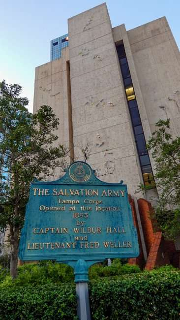 AUG 9, 2015 - Salvation Army Tampa Corps open in 1893 by Cpt Wilbur Hall Lt Fred Weller at Municiple Building site/photonews247.com