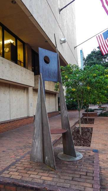 AUG 9, 2015 - Sculpture outside Municipal Office building in Downtown, Tampa/photonews247.com