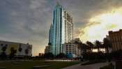 AUG 23, 2015 - Skypoint Condos from Curtis Hixon Waterfront Park, Downtown Tampa, FL/photonews247.com