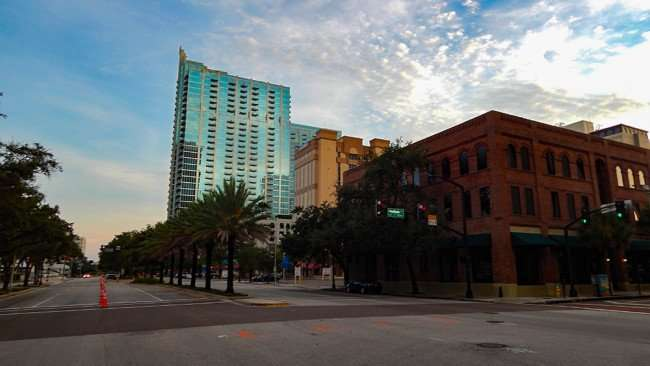 AUG 23, 2015 - Skypoint Luxury Apartments from corner of Ashley Drive and Madison Downtown Tampa, FL/photonews247.com