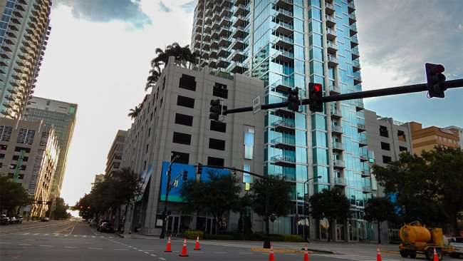 AUG 23, 2015 - Skypoint Luxury Condos from Ashley and Polk, Downtown Tampa/photonews247.com