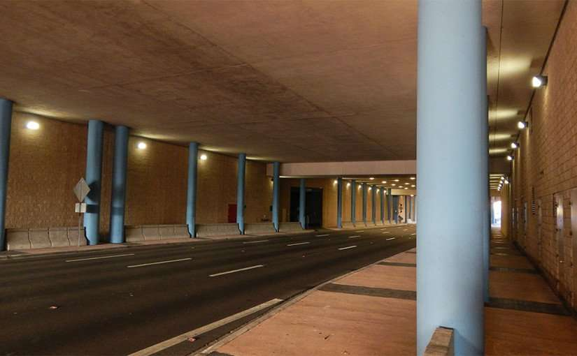 AUG 9, 2015 - Tampa Florida Tunnel on Channelside Dr going under Tampa Convention Center to Platt Street/photonews247.com