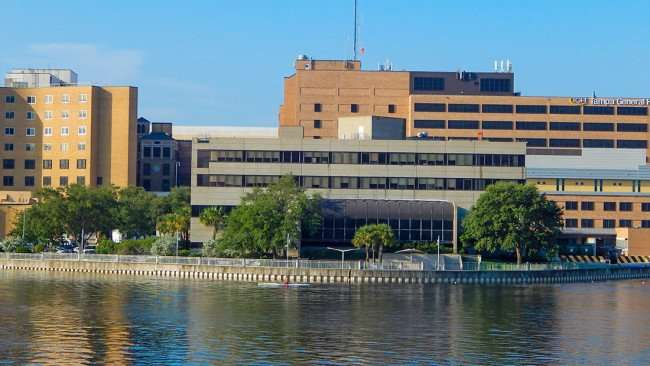 AUG 9, 2015 - Tampa General Hospital from Harbour Island Bridge/photonews247.com