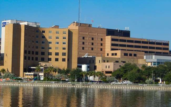 AUG 9, 2015 - Tampa General Hospital from Hillsborough River across from TCC/photonews247.com