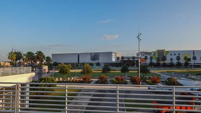 2015 - Tampa Museum of Art (L) and Glazer Children's Museum (R) from Kiley Garden, Downtown Tampa, FL/photonews247.com