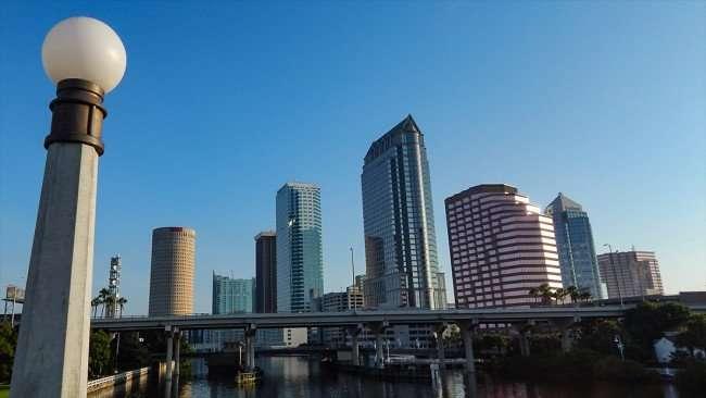 AUGUST 9, 2015 - Tampa Skyline seen from Platt Street Bridge in Downtown Tampa, FL/photonews247.com
