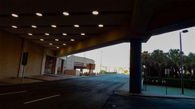 AUG 9, 2015 - Tampa Tunnel heading to Platt Street Bridge that goes over Hillsborough River, FL/photonews247.com