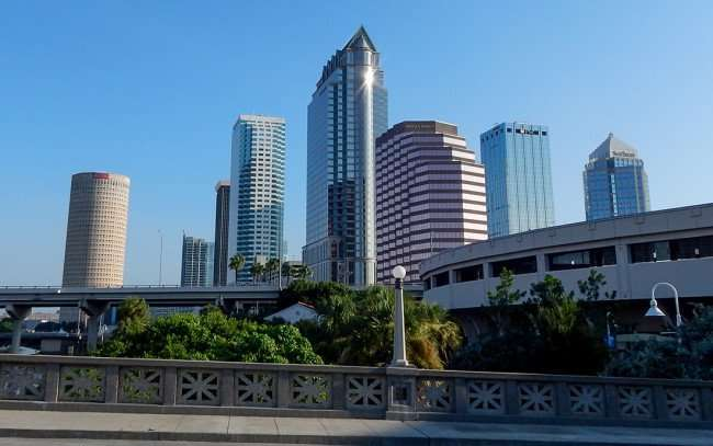 AUG 9, 2015 - Tampa cityscape from Platt Street Bridge/photonews247.com